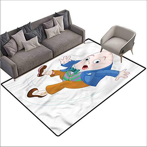 Kitchen Mat for Living Room Alice in Wonderland,Humpty Dumpty 60