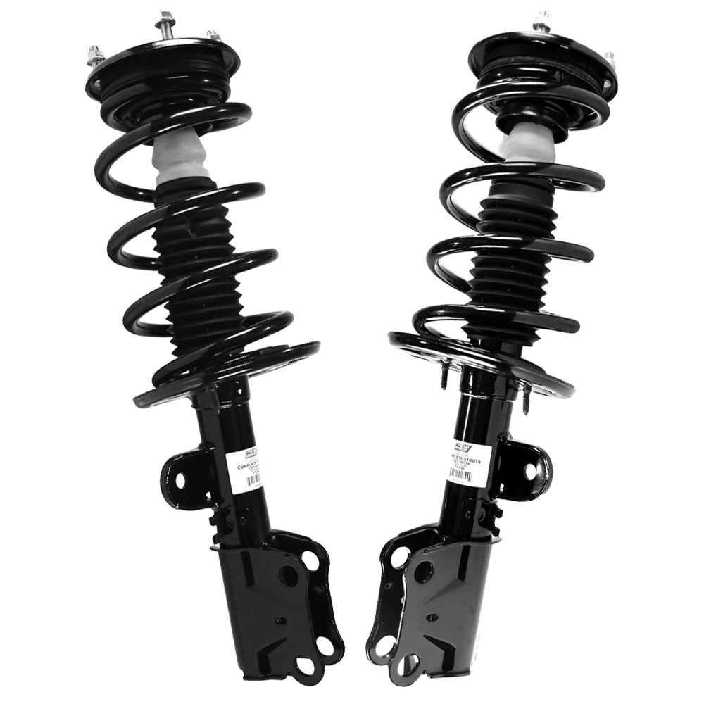 Complete Strut Assembly W//Coil Spring 2 Prime Choice Auto Parts CST1004026PR Front Pair