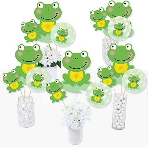 (Froggy Frog - Baby Shower or Birthday Party Centerpiece Sticks - Table Toppers - Set of 15)