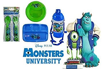 Disney Pixar Monsters Inc. Mealtime Dinnerware Set! Includes Sectioned Plate Bowl  sc 1 st  Amazon.com & Amazon.com : Disney Pixar Monsters Inc. Mealtime Dinnerware Set ...