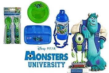 Disney Pixar Monsters Inc. Mealtime Dinnerware Set! Includes Sectioned Plate Bowl  sc 1 st  Amazon.com & Amazon.com : Disney Pixar Monsters Inc. Mealtime Dinnerware Set ...
