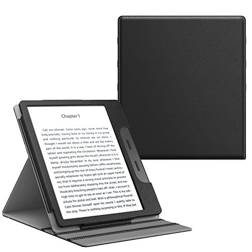 TiMOVO All-New Kindle Oasis Case (9th Generation, 2017 Release) - Vertical Multi-Viewing PU Leather Cover with Auto Wake/Sleep Function for Amazon 7 Kindle Oasis E-reader, BLACK