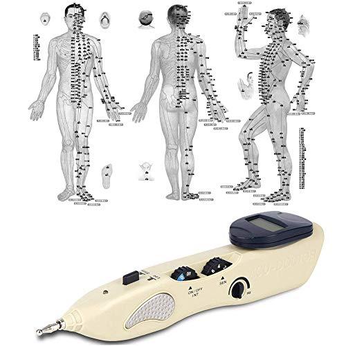 QIYE Electronic Acupuncture Pen Energy Meridian Massage Pen Pointer Meridian Stimulator Laser Moxibustion Pain Relief, Electronic Acupuncture Care Pen, Massage Energy Pen