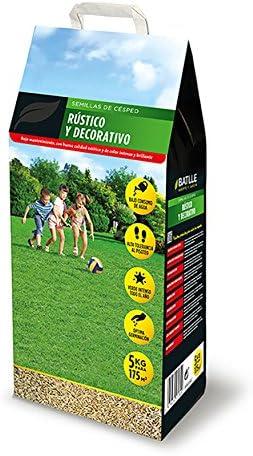 Semillas de Césped - Césped Rústico y Decorativo 5kg - Batlle: Amazon.es: Jardín
