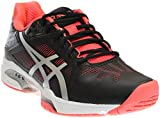 ASICS Women's Gel-Solution Speed 3 Tennis Shoe, Black/Silver/Diva Pink, 9.5 M US