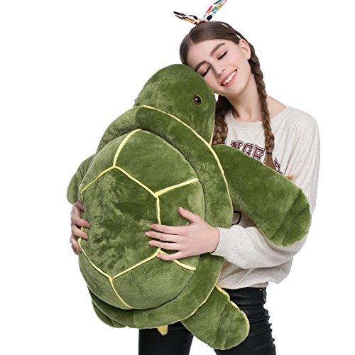 (DOLDOA Big Plush Eyes Sea Turtle Stuffed Animal Tortoise Toys for Children Girlfriend (33 inch))