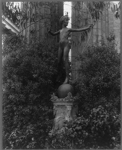 - HistoricalFindings Photo: Sculpture,young Diana shooting arrow,Roman diety,goddess,statues,J Scudder,c1916