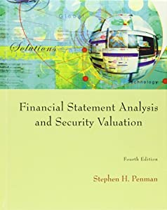 Financial statement analysis and security valuation penman 4edition ...