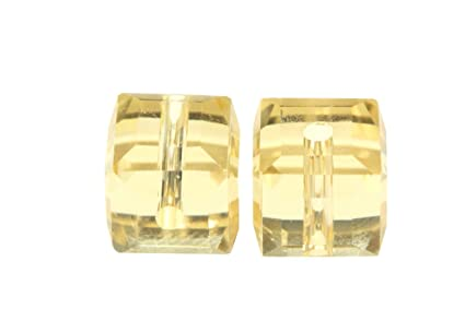 25f912b9f Amazon.com: 50 8mm Adabele Austrian Cube Crystal Beads Gold ...