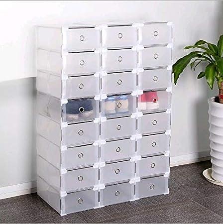 YESPER 24 Unidades – Zapatero Zapatos Caja Buzón apilables Caja ...