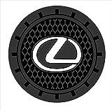 Auto Sport 2.75 inch Diameter Oval Tough Car Logo Vehicle Travel Auto Cup Holder Insert Coaster Can 2 Pcs Pack (Lexus)