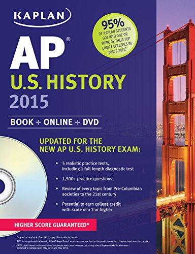 Kaplan AP U.S. History 2015: Book + Online + DVD (Kaplan Test Prep)