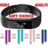 Fitness Tracker, Sports Armband, FREE Band, by TRENDY PRO, Features: Distance, Pedometer, Calorie Tracker, Fitness Tracker Armband, Sleep, Monitor, Best use with Diet, Exercise