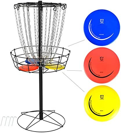 CROWN ME Disc Golf Basket Target Include 3 Disc