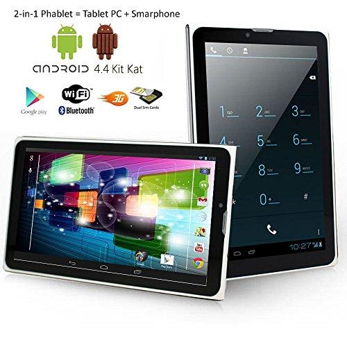 Indigi 7.0'' Phablet Android 4.4 Kitkat 3G SmartPhone Tablet PC Black (Factory Unlocked) by inDigi