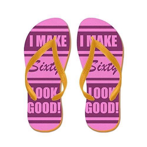 CafePress 60Th Birthday Humor - Flip Flops, Funny Thong Sandals, Beach Sandals Orange
