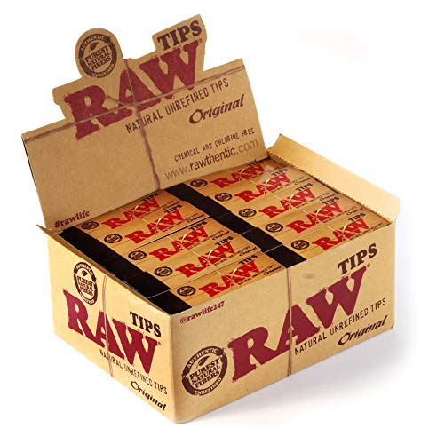 Raw Natural Paper Tips, Brown, Pack of 50