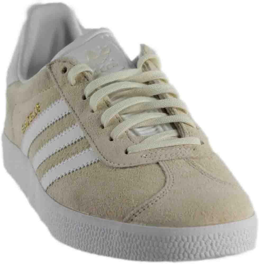 adidas Men's Gazelle Casual Sneakers B01HQPDT5Y 7 D(M) US|Off White/White