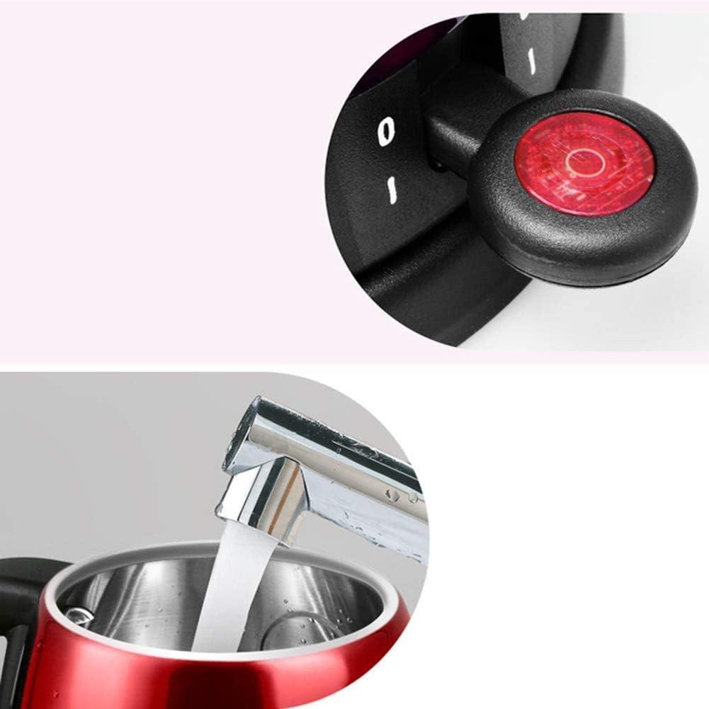 Alqn Bollitore elettrico Protezione automatica in acciaio inossidabile per chiusura a secco e secco Bollitura 0,8L, bianco,bianca Verde