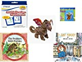 Childrens Gift Bundle - Ages 3-5 [5 Piece] - Mead Flashcards Multiplication Grades 2-3 - Scooby Doo & Shaggy 100 Piece Puzzle Toy - Ty Beanie Baby - Scorch the Dragon - Tales from Schroon Lake: Th
