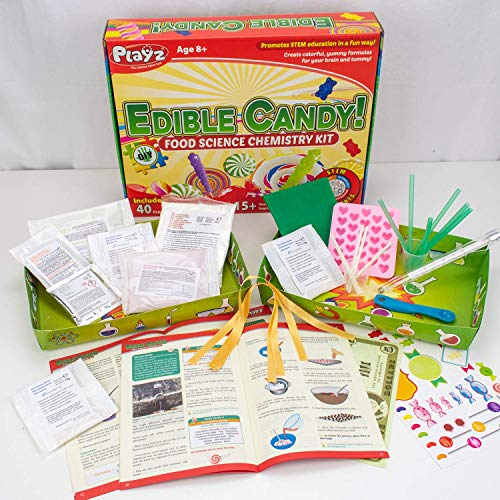 Playz Edible Candy! Food Science STEM Chemistry Kit - 40+ DIY Make Your Own Chocolates and Candy Experiments for Boy, Girls, Teenagers, & Kids Ages 8, 9, 10, 11, 12, 13+ Years Old by Playz (Image #5)