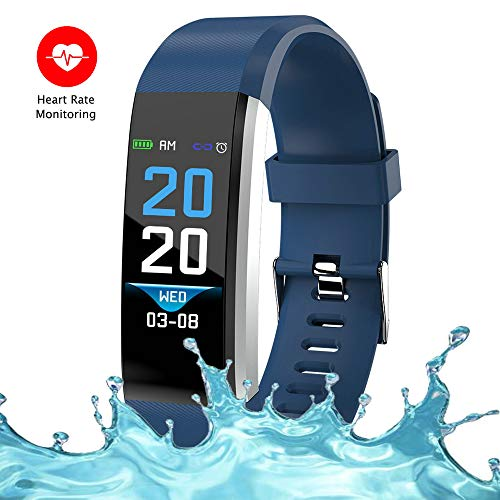 Bereezy Fitness Tracker Watch, Simply Operation Fitness Tracker Pedometer Step Counter with Calorie Counter for Walking Running Distance