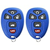 key for pontiac g6 blue - KeylessOption Keyless Entry Remote Start Control Car Key Fob Replacement for 22733524-Blue (Pack of 2)