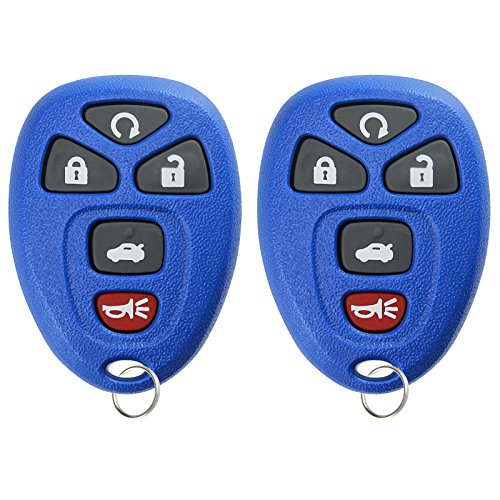 KeylessOption Keyless Entry Remote Start Control Car Key Fob Replacement for 22733524-Blue (Pack of 2) (Malibu Replacement 2007 Chevrolet)