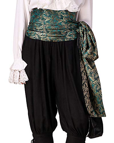 ThePirateDressing Pirate Medieval Renaissance Halloween Cosplay Costume Brocade