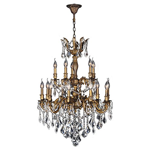Worldwide Lighting W83349B27 Versailles Collection 15 Light Antique Bronze Finish (Versailles Collection Chandelier)