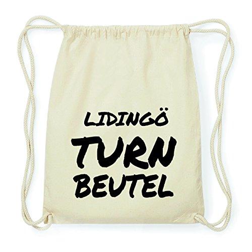 JOllify LIDINGÖ Hipster Turnbeutel Tasche Rucksack aus Baumwolle - Farbe: natur Design: Turnbeutel 5cSL2G7DZ