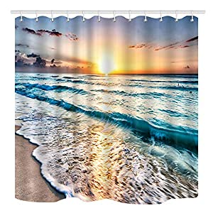 51FfTXWpFjL._SS300_ 200+ Beach Shower Curtains and Nautical Shower Curtains