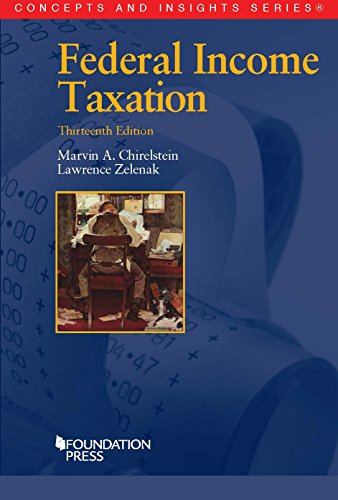Federal Income Taxation, 13th (Concepts and Insights Series)