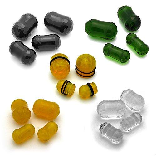 JewelryVolt Pair of Glass Orb