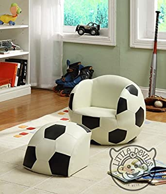 Poco Striker deporte tema sillón para niños, diseño de balón de ...