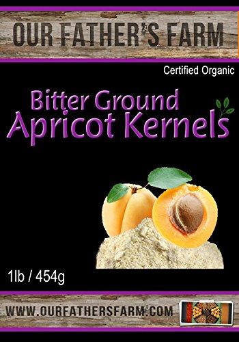 Bitter Raw Ground Organic Apricot Seeds 1 Lb - 454 (Apricot Seed Powder)