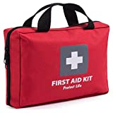 First Aid Kit for Car, Home, Traveling, Camping, Office or Sports | 200 pieces bag fully equipped with medical supplies for Emergency and Survival