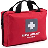 First Aid Kit - 200 piece - for Car, Home, Travel, Camping, Office or Sports | Red bag w/reflective cross, fully stocked with essential supplies for Emergency and Survival