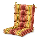 #10: Greendale Home Fashions Indoor/Outdoor High Back Chair Cushion, Kinnabari Stripe