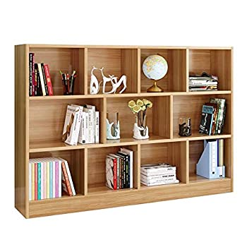 Image of BFENGHUANG Modern Minimalist Creative Bookshelf, Combined Bookcase Storage Rack, 140X24x105cm,Teakcolor Home and Kitchen