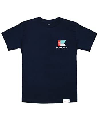 new products 5c593 ebc12 Diamond Supply Co. Yacht Flag TEE Navy Graphic S S Men s T-Shirt