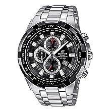 Casio EDIFICE Reloj en caja sólida de acero inoxidable, 10 BAR, Negro, para Hombre, con Correa de Acero macizo, EF-539D-1AVEF