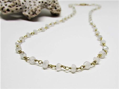 Gold Wedding Jewelry Wedding Necklace Gold Necklace For Women Moonstone Gold Necklace Moonstone Jewelry Gold Filled Moonstone Necklace