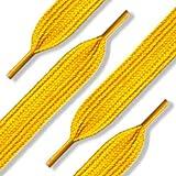 144 (12 Dozen) of 50'' (127 cm) Yellow Gold Nylon Shoelaces (Fat)