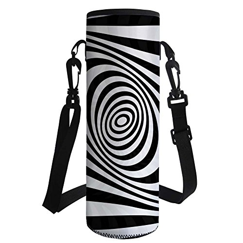 - Showcool Protable Neoprene Insulated Water Drink Bottle Cooler Carrier Cover 1000ML or 750ML Sleeve Tote Bag 3D Printed Zebra Texture for Kid Children Women Men Biker Travel Cycling