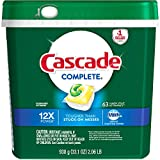 Cascade Complete ActionPacs Lemon Scent Dishwasher Detergent, 63 count (Pack of 5)