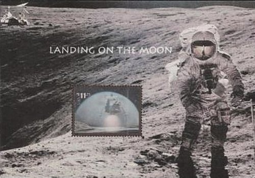 SC#3413 2000 Landing on the Moon $11.75 hologram sheet by USPS