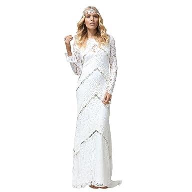 Greatstone Brautkleid Bohemian Mit Armel Ruckenfrei Hochzeit Kleid