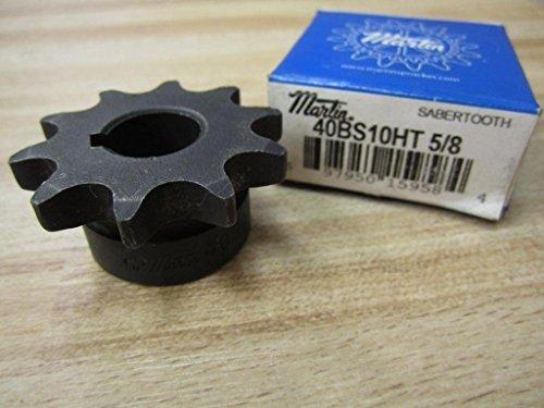 40 Chain Teeth - Martin Roller Chain Sprocket, Hardened Teeth, Bored-to-Size, Type B Hub, Single Strand, 40 Chain Size, 0.5
