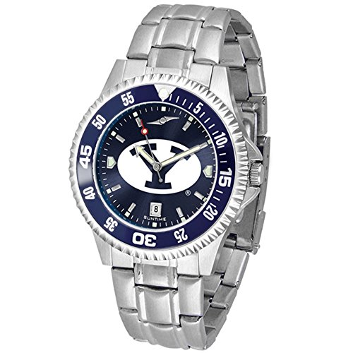 BYU Cougars Competitor Steel AnoChrome Color Bezel Men